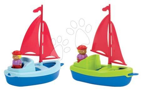 Plachetnica s námorníkom Écoiffier 13 cm modrá/zelená 2 kusy od 18 mes