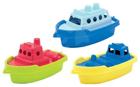 Kültéri játékok - Kishajó vízbe Écoiffier (hossza 33,5 cm) sárga/zöld/narancssárga 18 hó-tól