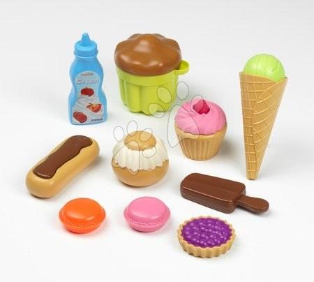Detské sladkosti a koláče 100% Chef Écoiffier v sieťke 10 kusov od 18 mesiacov