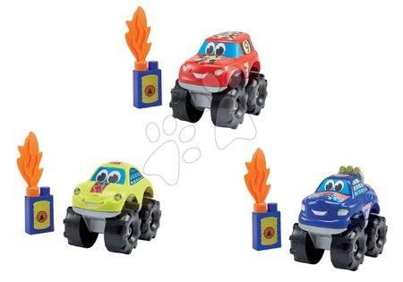 Abrick stavebnice Rychlá auta Big Foot Écoiffier 2 + 1 zadarmo, modré, zelené a červené / cena za 3 kusy