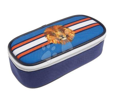Školske pernice - Školska pernica Pencil Box Lion Head Jeune Premier ergonomska luksuzni dizajn