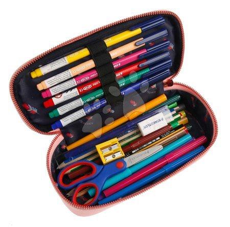 Školske pernice - Školský peračník Pencil Box Cherry Pink Jeune Premier ergonomický luxusné prevedenie 22*7 cm JPPB021137_1