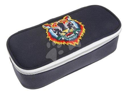 Školske pernice - Školska pernica Pencil Box Tiger Navy Jeune Premier ergonomska luksuzni dizajn 22*7 cm