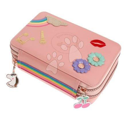 Školske pernice - Školska pernica Pencil Box Filled Lady Gadget Pink Jeune Premier ergonomska luksuzni dizajn 20*7 cm