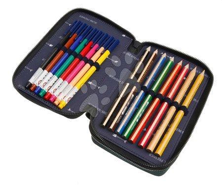 Školske pernice - Školský peračník Pencil Box Filled Monte Carlo Jeune Premier ergonomický luxusné prevedenie 20*7 cm JPPF021170_1