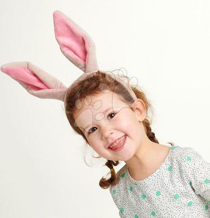 Detský kozmetický stolík - Ušká pre malého zajačika Bunny Ears Headband ThreadBear z jemnej plyše