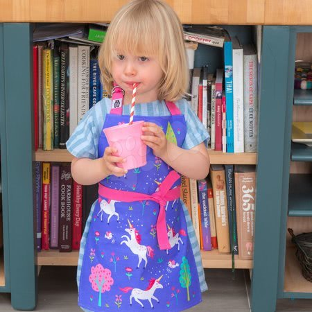 Zástery pre deti - Zástera pre deti jednorožec Lulu L'Unicorn Apron ThreadBear s ochrannou vrstvou od 3-6 rokov_1