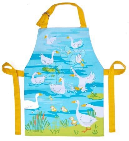 ThreadBear design - Șorț pentru copii gâște Gaggle of Geese Apron ThreadBear cu suprafață de protecție pentru vârsta 3-6 ani