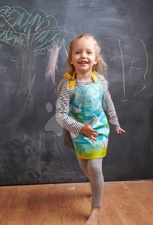 ThreadBear design - Șorț pentru copii gâște Gaggle of Geese Apron ThreadBear cu suprafață de protecție pentru vârsta 3-6 ani_1