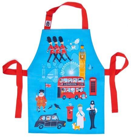 ThreadBear design - Șorț pentru copii London Town Apron ThreadBear cu suprafață de protecție pentru vârsta 3-6 ani