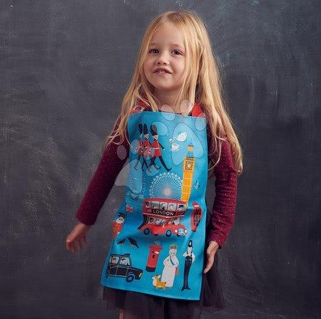 ThreadBear design - Șorț pentru copii London Town Apron ThreadBear cu suprafață de protecție pentru vârsta 3-6 ani_1
