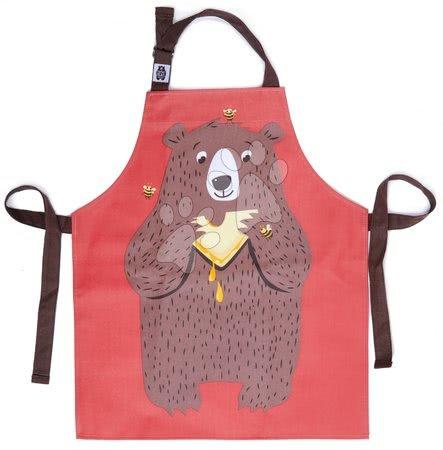 Zástěra pro děti medvěd Fred The Bear Cotton Apron ThreadBear z bavlny od 6–8 let