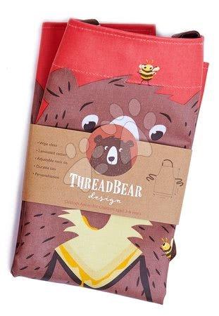 ThreadBear design - Șorț pentru copii ursul Fred The Bear Cotton Apron ThreadBear din țesătură de bumbac, vârsta 6-8 ani_1