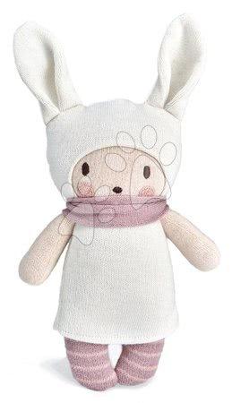 Kötött játékbaba fehér Baby Bella Knitted Doll Threadbear 24 cm puha pamutból ajándékcsomagolásban 0 hó-tól