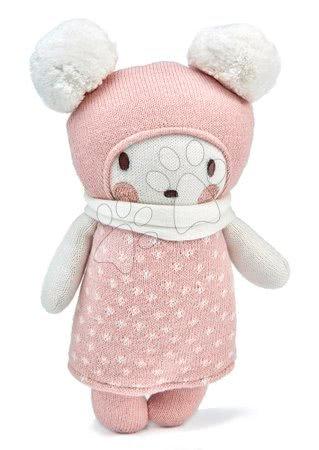 Panenka pletená bílá Baby Bella Knitted Doll ThreadBear 24 cm z jemné a měkké bavlny v dárkovém balení od 0 měsíců