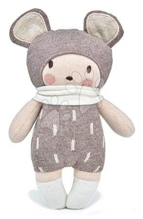 ThreadBear design - Păpușă tricotată roz Baby Beau Knitted Doll Threadbear 24 cm din bumbac moale și cutie cadou de la 0 luni TB4037