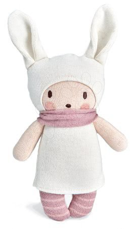 ThreadBear design - Păpușă tricotată roz Baby Baba Knitted Doll Threadbear 24 cm din bumbac fin și moale în ambalaj cadou de la 0 luni