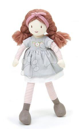 Panenka hadrová Alma Rag Doll ThreadBear 35 cm z jemné měkké bavlny se zapletenými hnědými vlásky