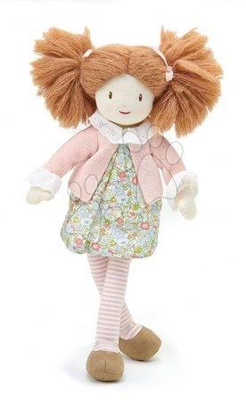 ThreadBear design - Păpușă de cârpă Marty Rag Doll Threadbear din bumbac moale tricotat codițe maro în cutie cadou de la 0 luni
