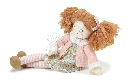 ThreadBear design - Păpușă de cârpă Marty Rag Doll Threadbear din bumbac moale tricotat codițe maro în cutie cadou de la 0 luni_1