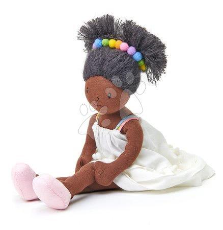 ThreadBear design - Păpușă de cârpă Esme Rag Doll Threadbear din bumbac moale tricotat cu păr negru în cutie cadou de la 0 luni_1