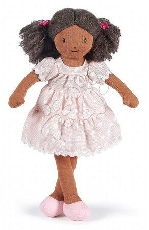 ThreadBear design - Păpușă de cârpă Mia Rag Doll Threadbear 35 cm din bumbac fin moale cu părul închis la culoare