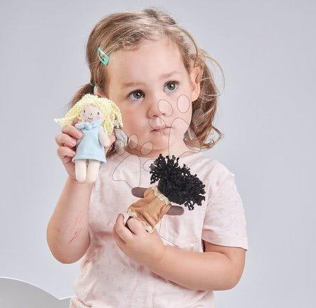 ThreadBear design - Păpușă de cârpă Mini Fifi Doll Threadbear din bumbac moale tricotat cu păr deschis în cutie cadou de la 0 luni_1