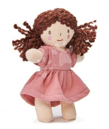 ThreadBear design - Păpușă de cârpă Mini Mimi Doll Threadbear din bumbac moale tricotat cu păr maro în cutie cadou de la 0 luni
