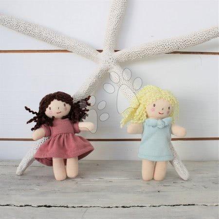 ThreadBear design - Păpușă de cârpă Mini Mimi Doll Threadbear din bumbac moale tricotat cu păr maro în cutie cadou de la 0 luni_1