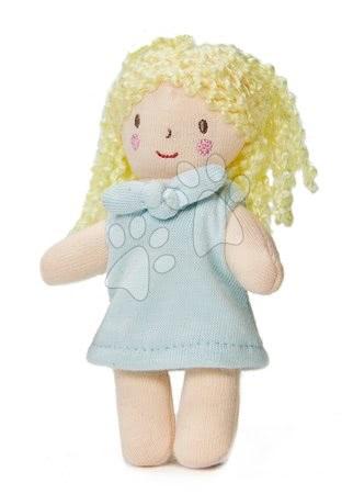 ThreadBear design - Păpușă de cârpă Mini Fifi Doll Threadbear din bumbac moale tricotat cu păr deschis în cutie cadou de la 0 luni