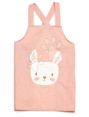 ThreadBear design - Șorț pentru copii Iepuraș Rabbit Linen Cotton Apron Threadbear din bumbac pastelat roz de la 3-8 ani