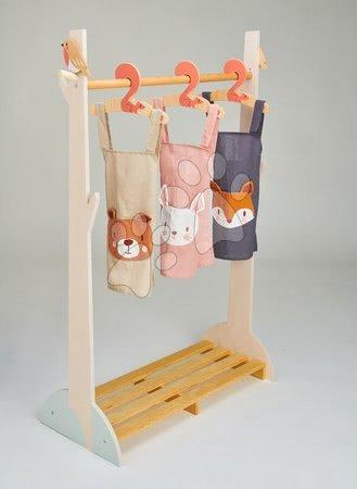 ThreadBear design - Șorț pentru copii Ursul Bear Linen Cotton Apron Threadbear din bumbac moale bej de la 3-8 ani_1