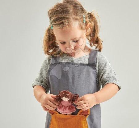 ThreadBear design - Șorț pentru copii Vulpița Fox Linen Cotton Apron Threadbear din bumbac moale gri de la 3-8 ani_1