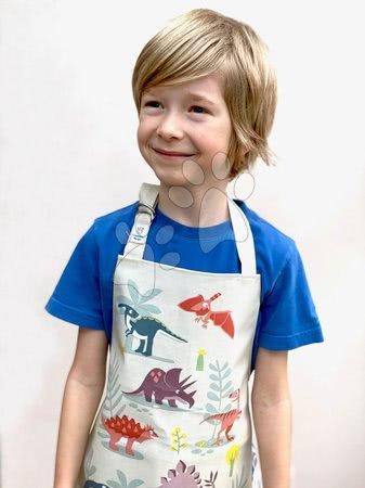 ThreadBear design - Șorț pentru copii Dinosaur Friends Apron Threadbear cu strat protector de la 3-6 ani_1