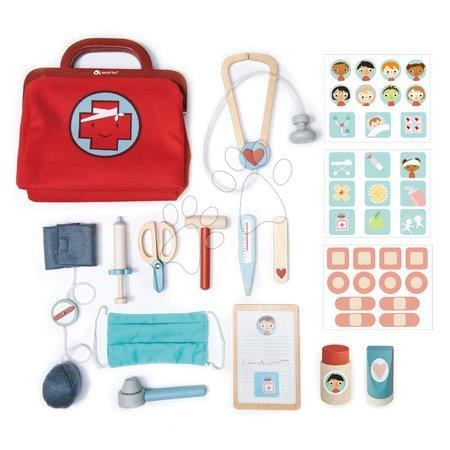 Dječja medicinska kolica - Dječja medicinska torba Doctor's Bag Tender Leaf Toys s medicinskim pomagalima, maskom i flasterima_1