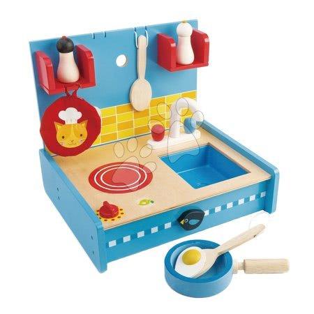 Drevené kuchynky - Drevená kuchynka Pop Up and Pack Away Tender Leaf Toys 8-dielna súprava s varnou doskou a drezom_1