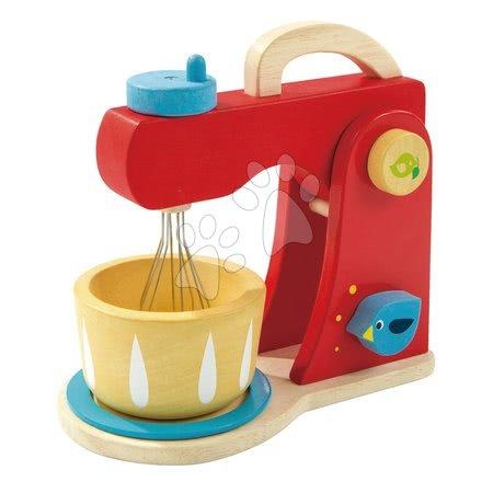 Drevené kuchynky - Drevený mixér so zvukmi Baker's Mixing Tender Leaf Toys 7-dielna sada s kuchynským riadom a koláčmi_1