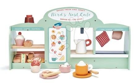 Drevené kuchynky - Drevená kaviareň Vtáčie hniezdo Bird's Nest Café Tender Leaf Toys s vypracovanými doplnkami a nálepkami_1