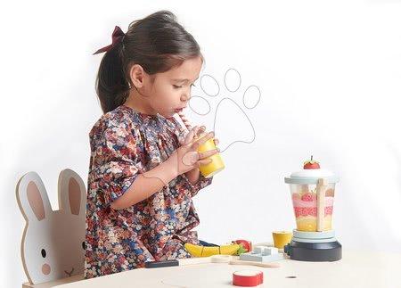 Drevené kuchynky - Drevený mixér Fruity Blender Tender Leaf Toys s pohárom, ovocím a kocky ľadu_1