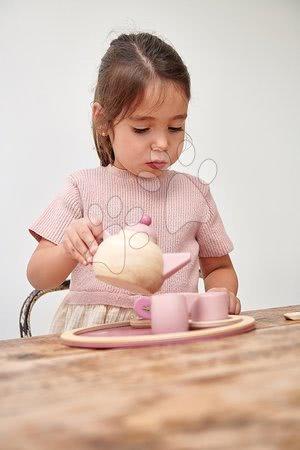 Drevené kuchynky - Drevený čajník Birdie Tea set Tender Leaf Toys na tácke so šálkami s čajovým vrecúškom_1