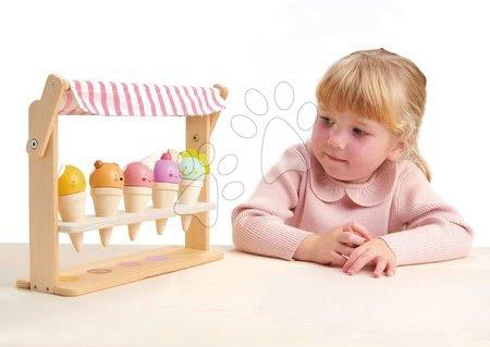 Drevené kuchynky - Drevená zmrzlináreň s úsmevom Scoops and Smiles Tender Leaf Toys 5 druhov kornútkov so zvieratkami_1