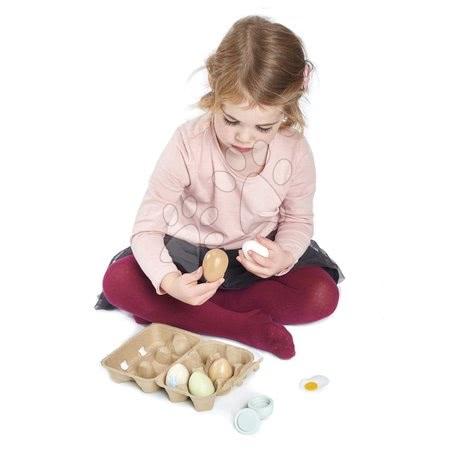 Detské kuchynky - Drevené vajíčka Wooden Eggs Tender Leaf Toys 6 kusov v krabičke_1