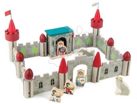 Dřevěné stavebnice Tender Leaf  - Dřevěný Vlkodlak hrad Wolf Castle Tender Leaf Toys klik a pokaždé si vytvoř jinou budovu 40 dílů