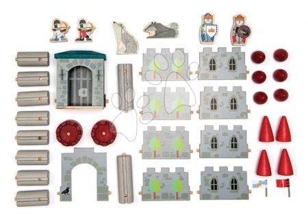 Dřevěné stavebnice Tender Leaf  - Dřevěný Vlkodlak hrad Wolf Castle Tender Leaf Toys klik a pokaždé si vytvoř jinou budovu 40 dílů_1