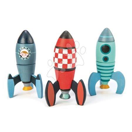 Dřevěné stavebnice Tender Leaf  - Dřevěné skládací rakety Rocket Construction Tender Leaf Toys kreativní hra 3 druhy, 18 dílů