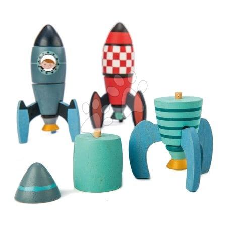 Dřevěné stavebnice Tender Leaf  - Dřevěné skládací rakety Rocket Construction Tender Leaf Toys kreativní hra 3 druhy, 18 dílů_1