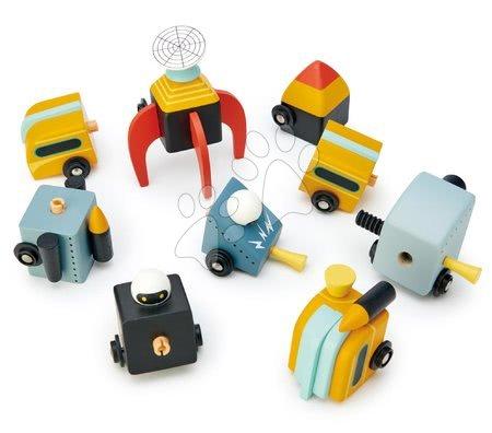Dřevěné stavebnice Tender Leaf  - Dřevěná kosmická auta Space Race Tender Leaf Toys třídílná skládací kombinovatelná_1