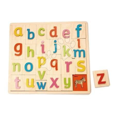 Drevená abeceda s obrázkami Alphabet Pictures Tender Leaf Toys 27 dielov od 18 mes