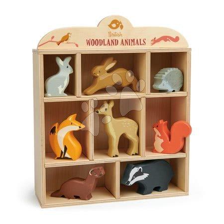 Lesene živalce na polički 8 kom Woodland Animals Tender Leaf Toys kunec zajec ježek lisica srna veverica podlasica jazbec