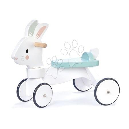 Leseni poganjalci - Leseni poganjalec zajček Running Rabbit Ride on Tender Leaf Toys s funkcionalnim krmilom od 18 mes